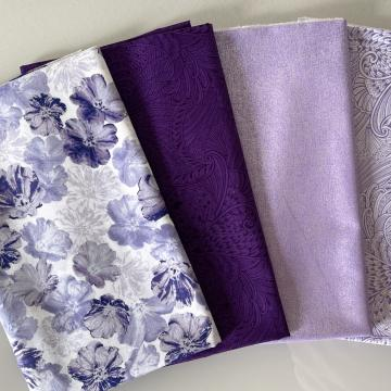 Stoffpaket Violet Light Lilac