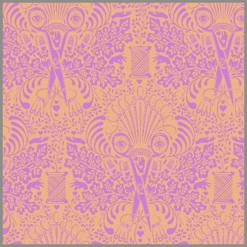 Tula Pink Getting Snippy Brunch - Orange Pink