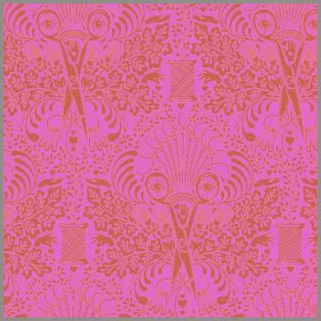 Tula Pink Getting Snippy Morning - Pink Orange