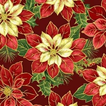 Weihnachtssterne nostalgisch auf rot