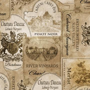 Wein Labels in sepia