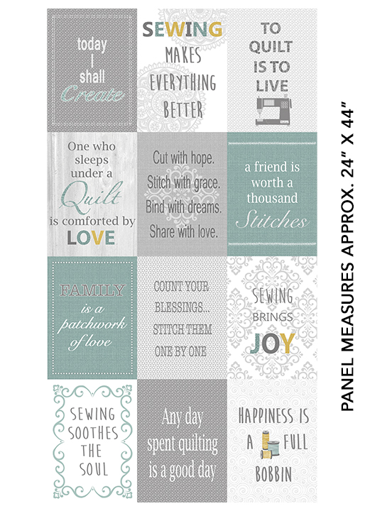 Words to Quilt By - Panel Quilter Patch