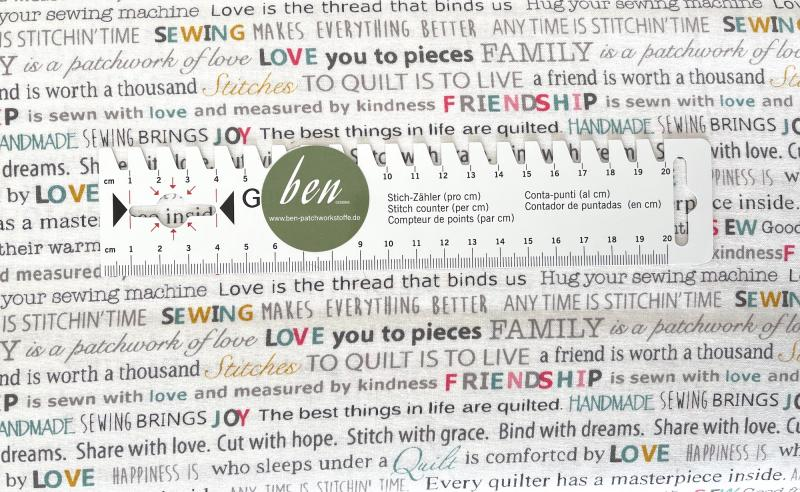 Words to Quilt By - Quilters Words White