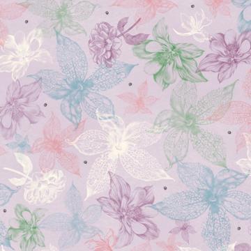 Zarte Blüten auf lila/rosa