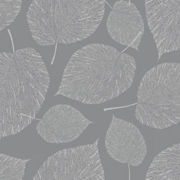 filigrane silberne Blätter auf grauem Grund