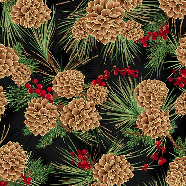 Tannenzapfen weihnachtlich